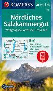 Cover-Bild zu KOMPASS-Karten GmbH (Hrsg.): KOMPASS Wanderkarte Nördliches Salzkammergut, Wolfgangsee, Attersee, Traunsee. 1:50'000