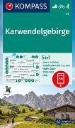 Cover-Bild zu KOMPASS-Karten GmbH (Hrsg.): KOMPASS Wanderkarte Karwendelgebirge. 1:50'000