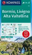 Cover-Bild zu KOMPASS-Karten GmbH (Hrsg.): KOMPASS Wanderkarte Bormio, Livigno, Alta Valtellina. 1:50'000
