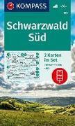 Cover-Bild zu KOMPASS-Karten GmbH (Hrsg.): KOMPASS Wanderkarte Schwarzwald Süd. 1:50'000