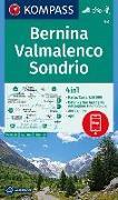 Cover-Bild zu KOMPASS-Karten GmbH (Hrsg.): KOMPASS Wanderkarte Bernina, Valmalenco, Sondrio. 1:50'000