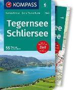 Cover-Bild zu Hüsler, Eugen: KOMPASS Wanderführer Tegernsee, Schliersee. 1:40'000