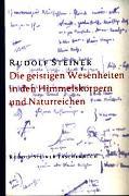 Cover-Bild zu Steiner, Rudolf: Die geistigen Wesenheiten in den Himmelskörpern und Naturreichen