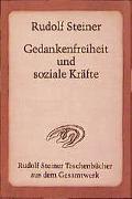 Cover-Bild zu Steiner, Rudolf: Gedankenfreiheit und soziale Kräfte