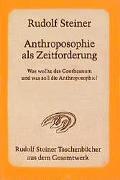 Cover-Bild zu Steiner, Rudolf: Anthroposophie als Zeitforderung