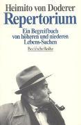 Cover-Bild zu Doderer, Heimito von: Repertorium