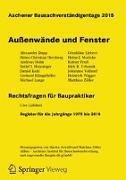 Cover-Bild zu Oswald, Martin (Hrsg.): Aachener Bausachverständigentage 2015