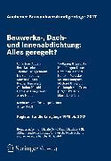 Cover-Bild zu Oswald, Martin (Hrsg.): Aachener Bausachverständigentage 2017 (eBook)