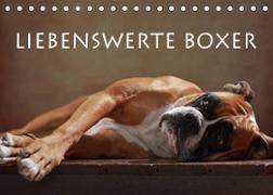 Cover-Bild zu Behr, Jana: Liebenswerte Boxer (Tischkalender 2022 DIN A5 quer)