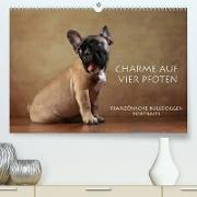 Cover-Bild zu Behr, Jana: Charme auf vier Pfoten - Französische Bulldoggen Portraits (Premium, hochwertiger DIN A2 Wandkalender 2022, Kunstdruck in Hochglanz)