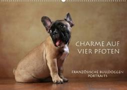Cover-Bild zu Behr, Jana: Charme auf vier Pfoten - Französische Bulldoggen Portraits (Wandkalender 2022 DIN A2 quer)