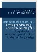 Cover-Bild zu Hoffmann, Andreas (Beitr.): Er stieg auf den Berg ... und lehrte sie (Mt 5,1f.)