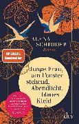 Cover-Bild zu Schröder, Alena: Junge Frau, am Fenster stehend, Abendlicht, blaues Kleid (eBook)