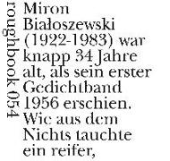 Cover-Bild zu Bialoszewski, Miron: M'ironien