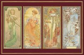 Cover-Bild zu Mucha - Die 4 Jahreszeiten metallic
