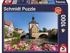 Cover-Bild zu Bamberg, Regnitz und Altes Rathaus 1000 Teile