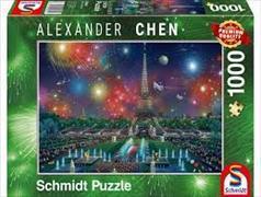 Cover-Bild zu Feuerwerk am Eiffelturm 1000 Teile