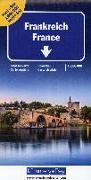 Cover-Bild zu Hallwag Kümmerly+Frey AG (Hrsg.): Frankreich Nord+Süd Strassenkarte 1:600 000. 1:600'000
