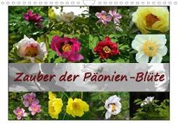 Cover-Bild zu Zauber der Päonien-Blüte (Wandkalender 2021 DIN A4 quer) von Reiter, Monika