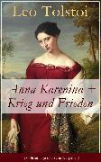 Cover-Bild zu Anna Karenina + Krieg und Frieden (eBook) von Tolstoi, Leo
