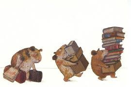 Cover-Bild zu Bücherhamster ziehen um von Schärer, Kathrin (Illustr.)