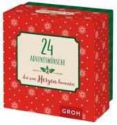 Cover-Bild zu 24 Adventswünsche, die von Herzen kommen von Groh Redaktionsteam (Hrsg.)