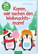 Cover-Bild zu Komm, wir suchen den Weihnachtsmann! - Ein Adventskalender für Kinder mit 24 Vorlesekarten von Thabet, Edith