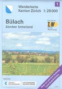 Cover-Bild zu Wanderkarte Kanton Zürich 1. Bülach. 1:25'000