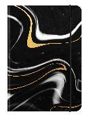 Cover-Bild zu BLACK MARBLE - 12x17 cm - Blankbook - 240 blanko Seiten - Softcover - gebunden