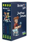 Cover-Bild zu Die drei ??? Kids: 4 Bände im Schuber (SOS über den Wolken, Spuk in Rocky Beach, Die Gruselfalle, Mission Goldhund) von Blanck, Ulf