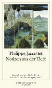 Cover-Bild zu Jaccottet, Philippe: Notizen aus der Tiefe