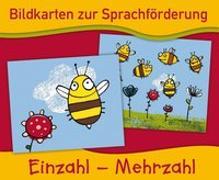 Cover-Bild zu Bildkarten zur Sprachförderung: EINZAHL - MEHRZAHL - Neuauflage von Boretzki, Anja