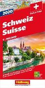 Cover-Bild zu Hallwag Kümmerly+Frey AG (Hrsg.): Schweiz 2020 Strassenkarte 1:303 000. 1:303'000