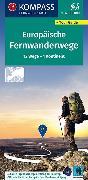 Cover-Bild zu KOMPASS Fernwegekarte Fernwanderwege Europa, Long-Distance-Paths Europe. 1:2'500'000