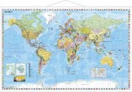 Cover-Bild zu Weltkarte deutsch Großformat. 1:33'000'000 von Stiefel, Heinrich