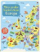Cover-Bild zu Mein großer Sticker-Atlas: Europa von Melmoth, Jonathan