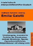Cover-Bild zu Emilia Galotti - Lektürehilfe und Interpretationshilfe. Interpretationen und Vorbereitungen für den Deutschunterricht (eBook) von Schardt, Friedel
