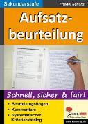 Cover-Bild zu Aufsatzbeurteilung in der Sekundarstufe (eBook) von Schardt, Friedel