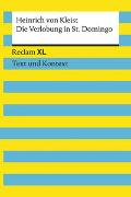 Cover-Bild zu Die Verlobung in St. Domingo. Textausgabe mit Kommentar und Materialien von von Kleist, Heinrich