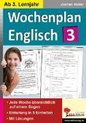 Cover-Bild zu Wochenplan Englisch 3 (eBook) von Vatter, Jochen