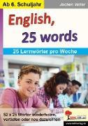 Cover-Bild zu English, 25 words (eBook) von Vatter, Jochen