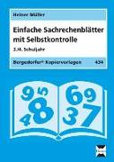 Cover-Bild zu Einfache Sachrechenblätter mit Selbstkontrolle. 3./4. Schuljahr von Müller, Heiner