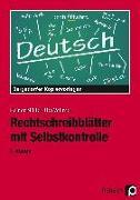 Cover-Bild zu Rechtschreibblätter mit Selbstkontrolle. 6. Schuljahr von Müller, Heiner
