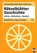 Cover-Bild zu Rätselblätter Geschichte von Behrndt, Karsten