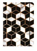 Cover-Bild zu MARBLED PATTERN 12x17 cm - Blankbook - 240 blanko Seiten - Softcover - gebunden