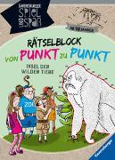 Cover-Bild zu Rätselblock von Punkt zu Punkt: Insel der wilden Tiere von Rist, Cornelia