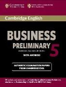 Cover-Bild zu Cambridge English Business Preliminary 5. Student's Book with answers