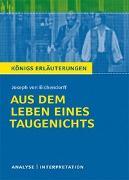 Cover-Bild zu Aus dem Leben eines Taugenichts von Joseph von Eichendorff von Eichendorff, Josef von