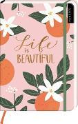 Cover-Bild zu myNOTES Notizbuch A5: Life is beautiful - notebook medium, dotted - für Träume, Pläne und Ideen / ideal als Bullet Journal oder Tagebuch