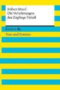 Cover-Bild zu Die Verwirrungen des Zöglings Törleß. Textausgabe mit Kommentar und Materialien von Musil, Robert